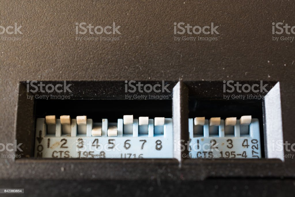 Multi Channel Selector Switch. stock photo