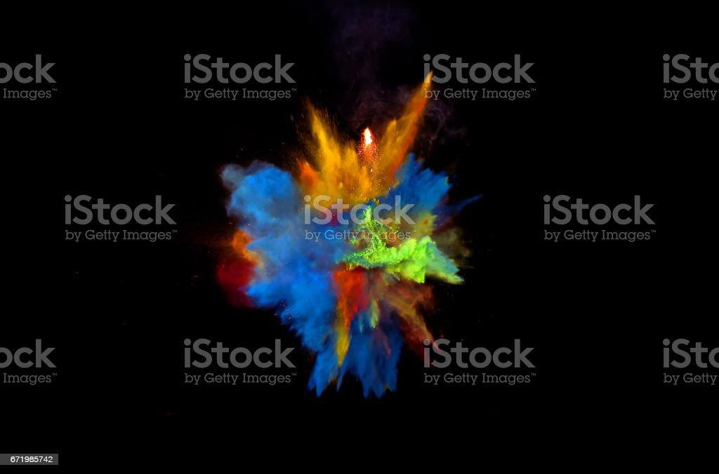 Multi  Color Blast stock photo