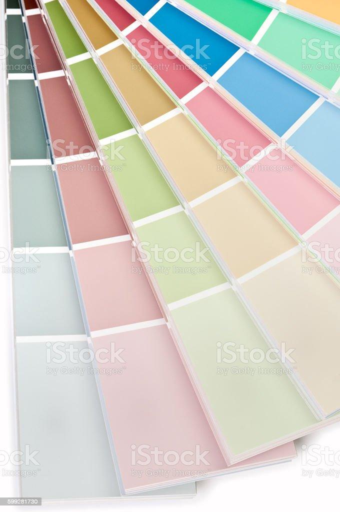 Multi Color Chart Fan Deck stock photo
