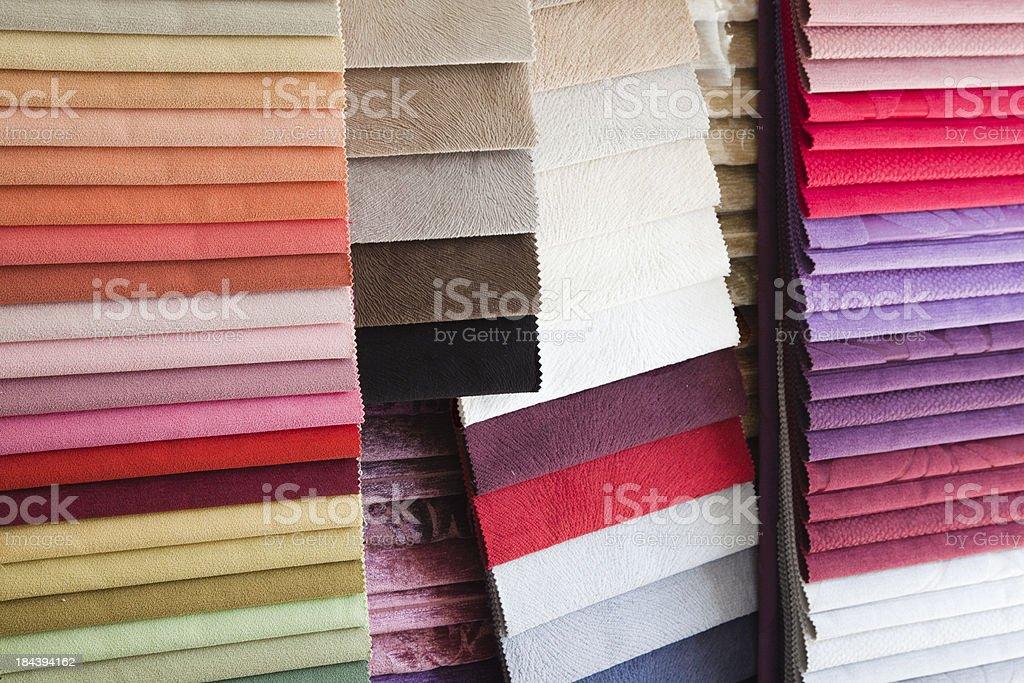 Multi Color Fabrics stock photo