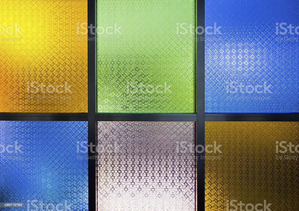 multi color  glass window royalty-free stock photo