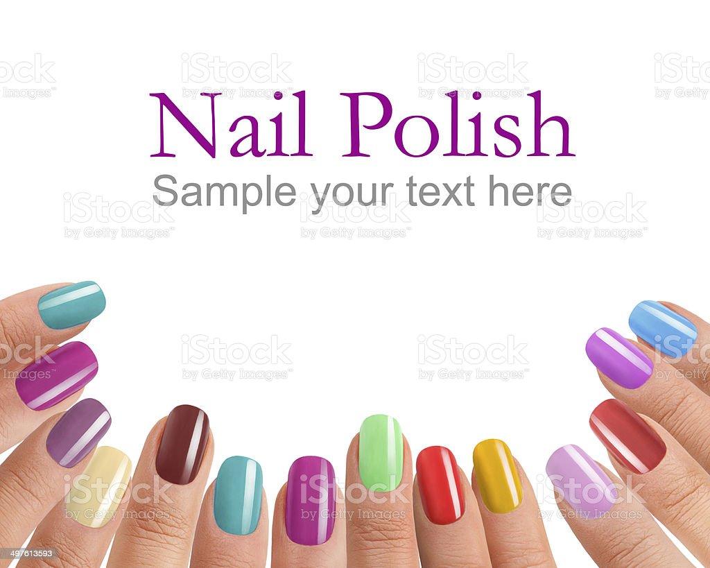 Multi Color manicure stock photo