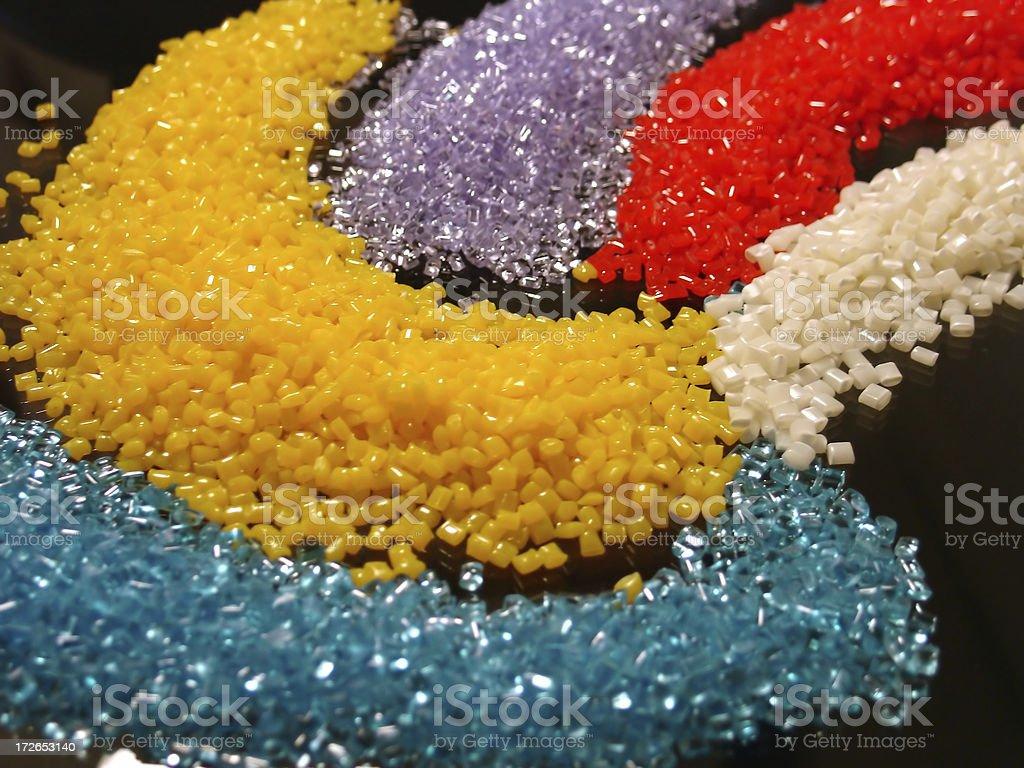 multi color resin 5 stock photo