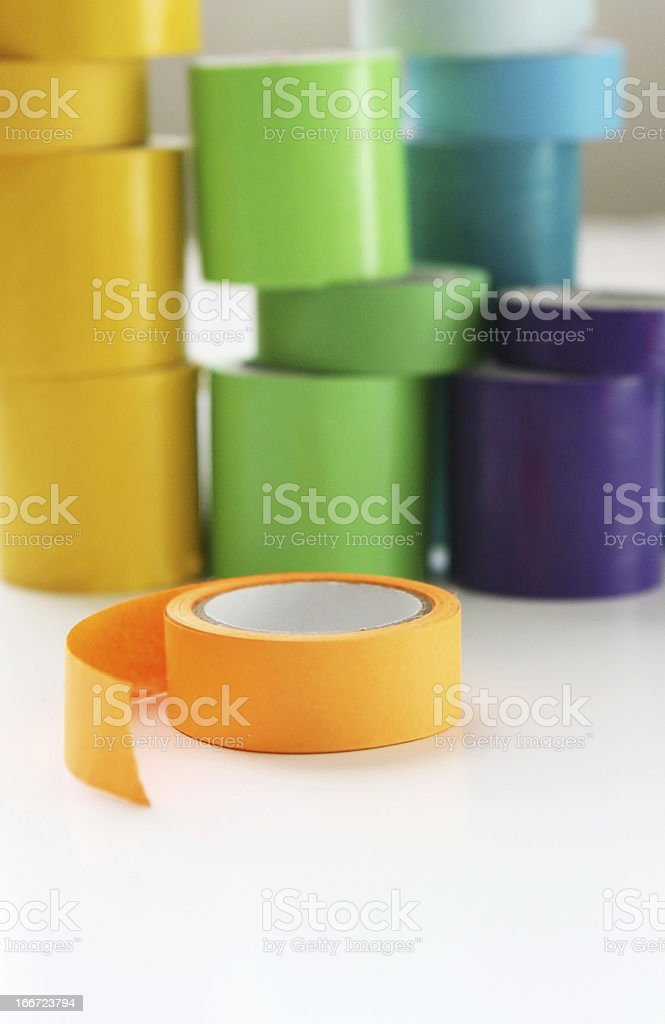 Multi Color Rolls of Tape royalty-free stock photo