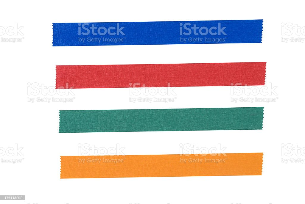 Multi Color Tape royalty-free stock photo