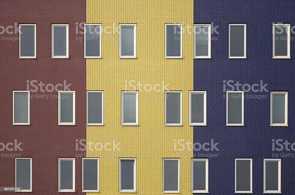 Multi colored apartments royalty-free stock photo