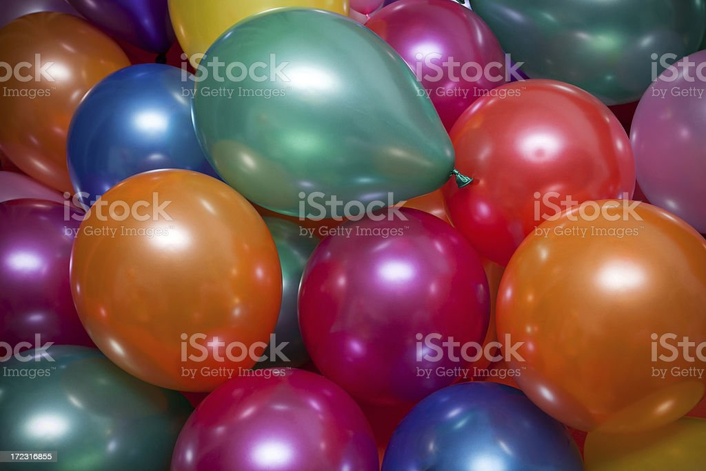 Multi Colored Balloons stock photo