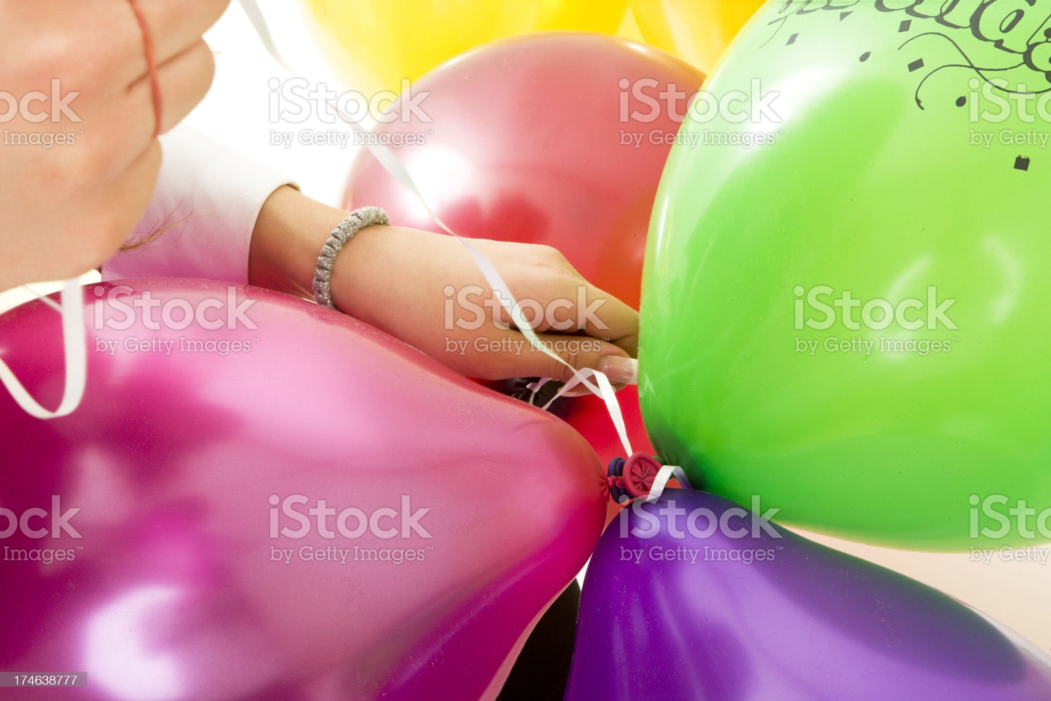 Multi colored balloons royalty-free stock photo
