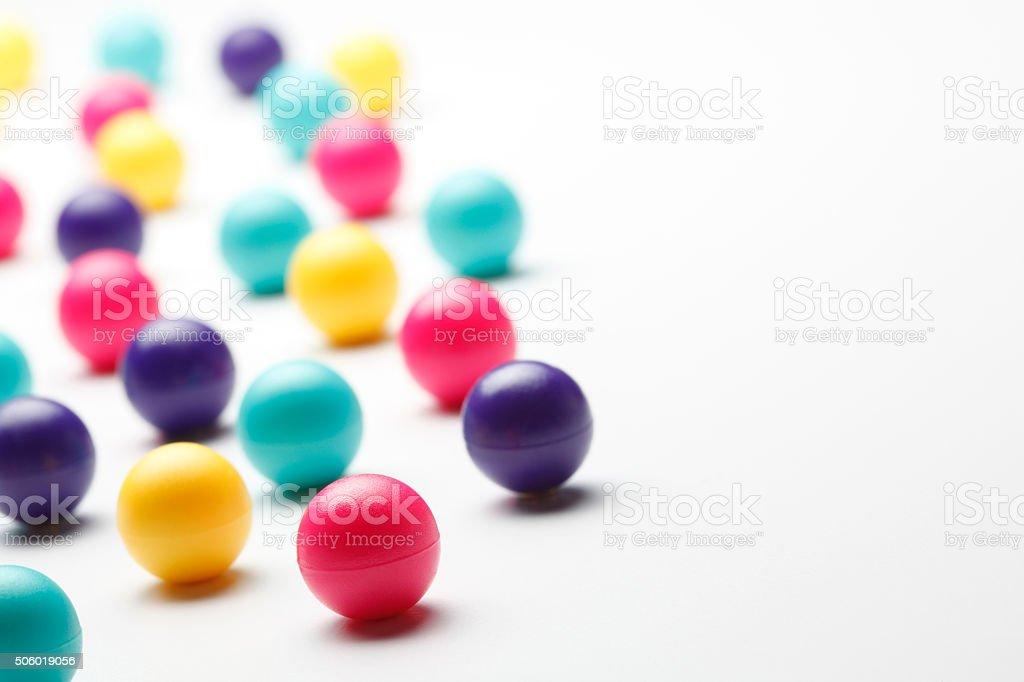 Multi Colored Balls Randomly Placed stock photo