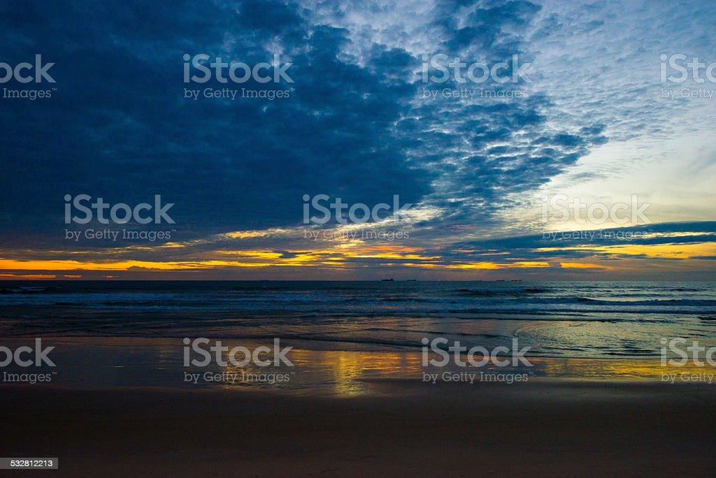 Multi colored beach stock photo