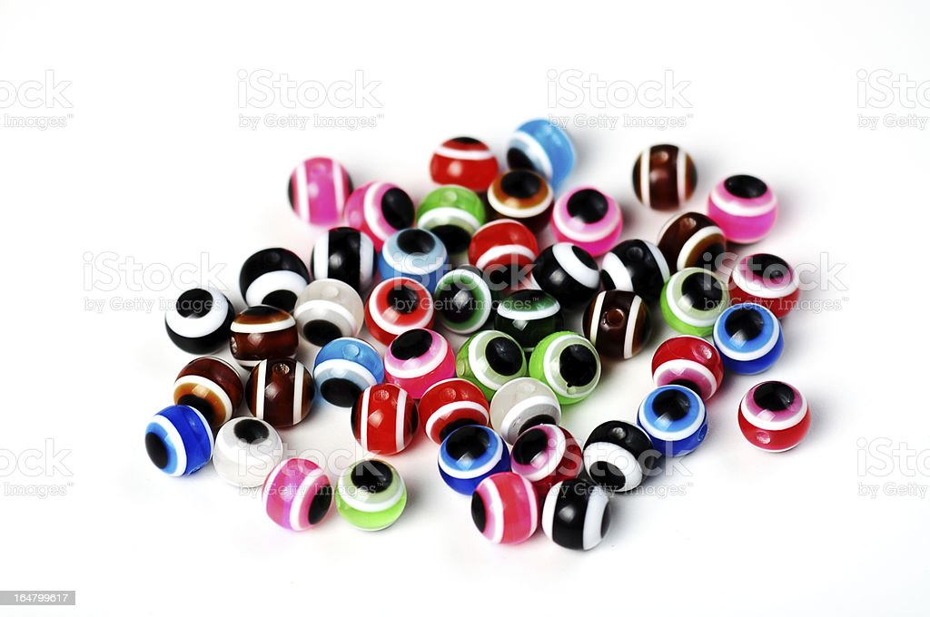 multi colored beads royalty-free stock photo