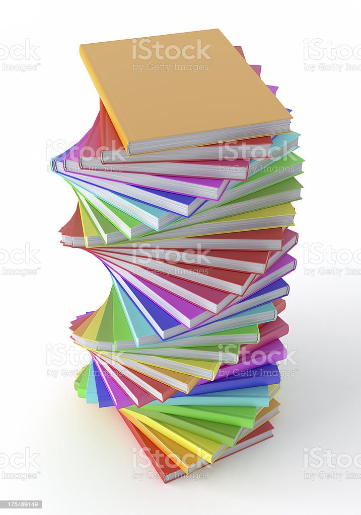Multi Colored books royalty-free stock photo