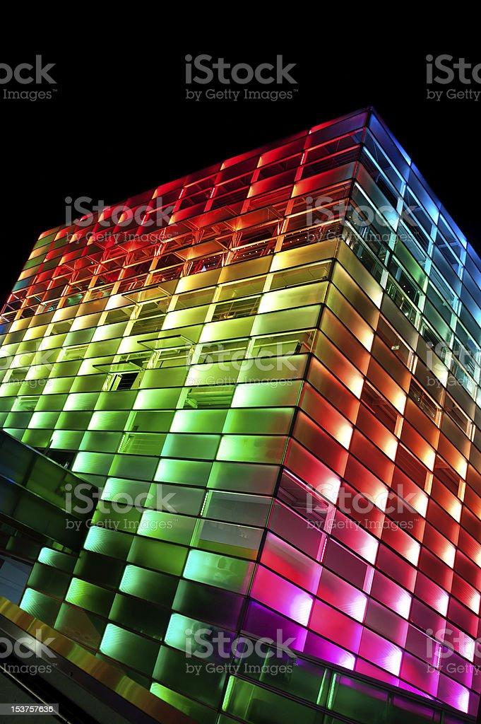 Multi Colored Building stock photo
