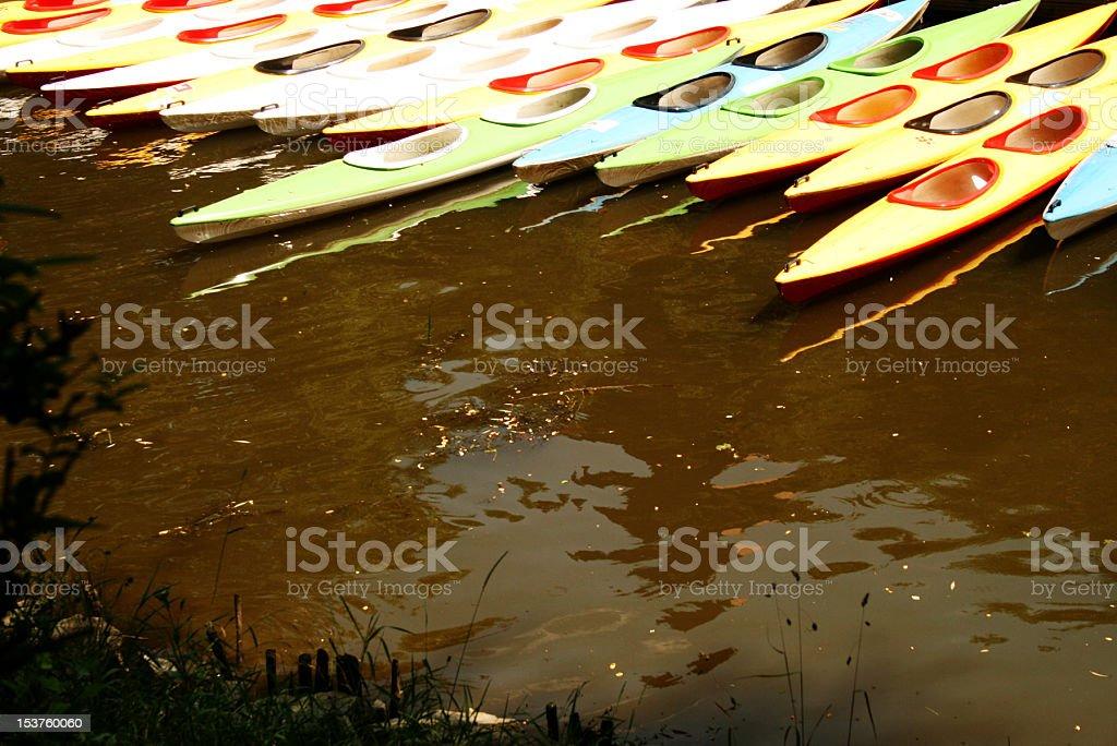 Multicolore canoa foto stock royalty-free