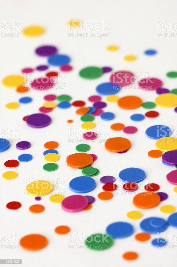 Multi Colored Confetti royalty-free stock photo