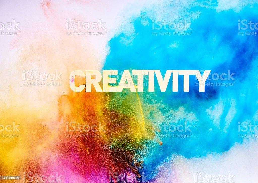 Multi Colored Creativity blast stock photo