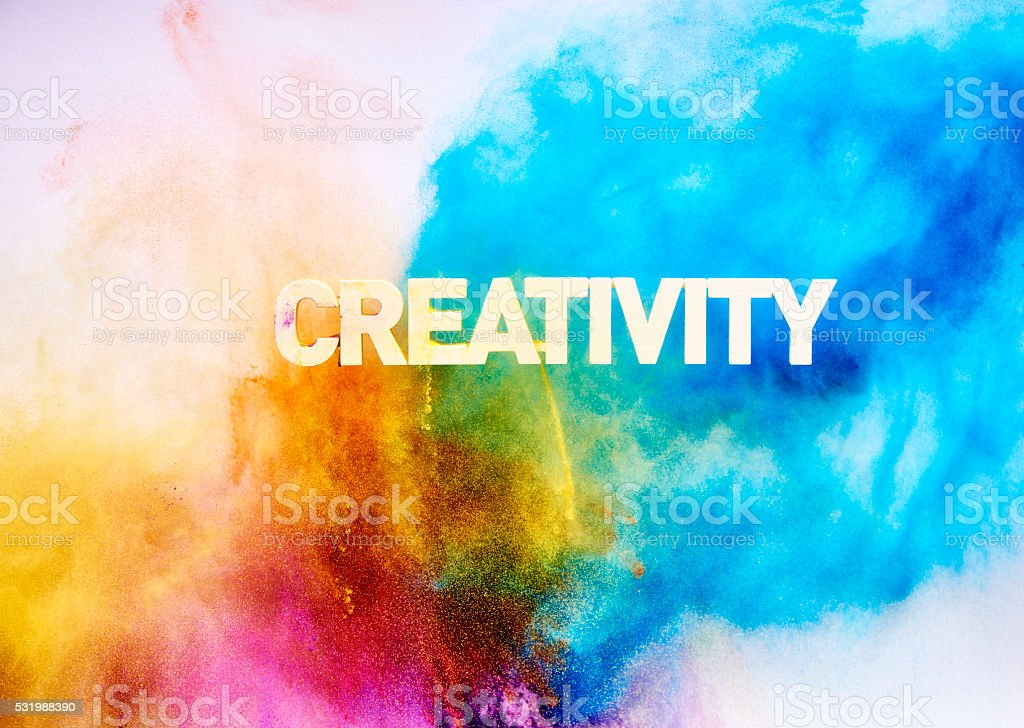 Multi Colored Creativity blast stock photo