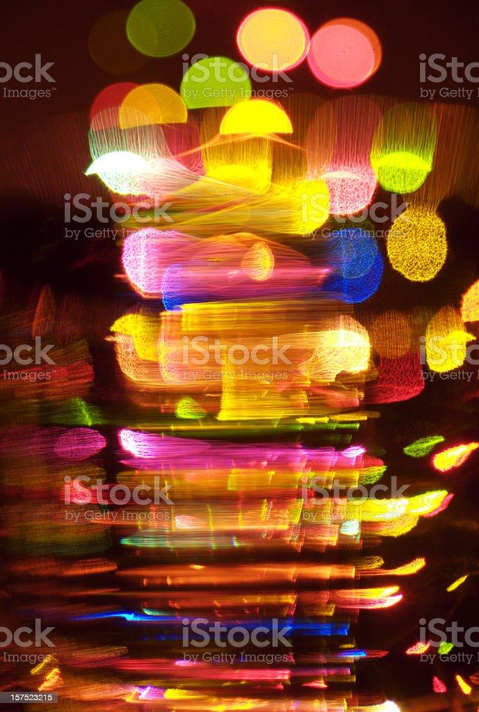Multi colored defocused  lights royalty-free stock photo