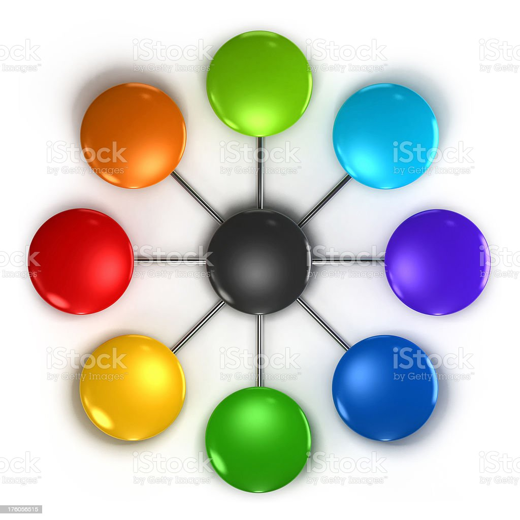 Multi colored diagram royalty-free stock photo