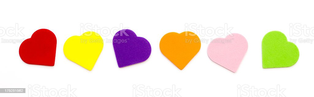 multi colored hearts royalty-free stock photo