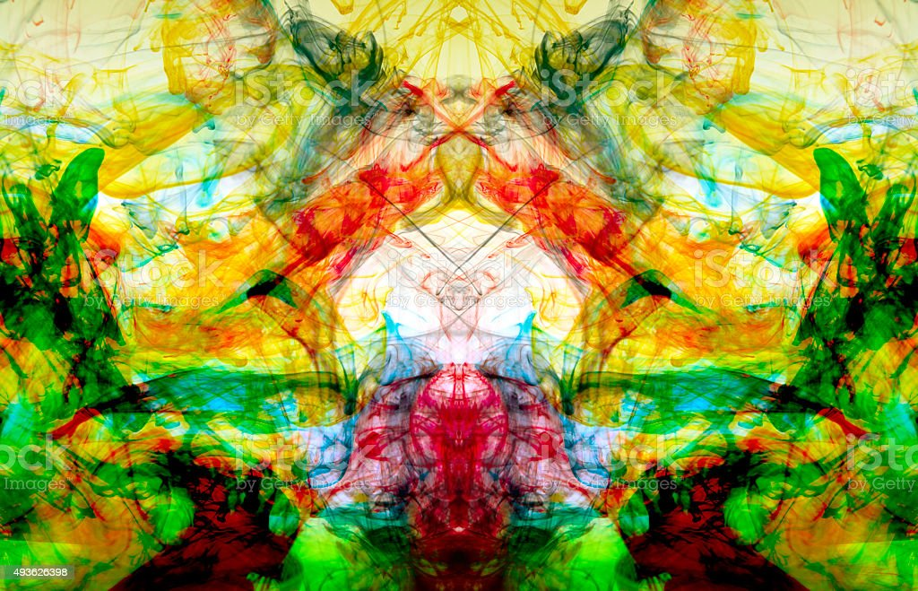 Multi colored kaleidoscope background stock photo