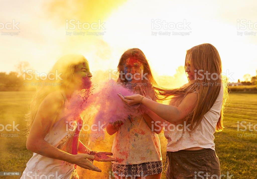 Multi colored madness stock photo
