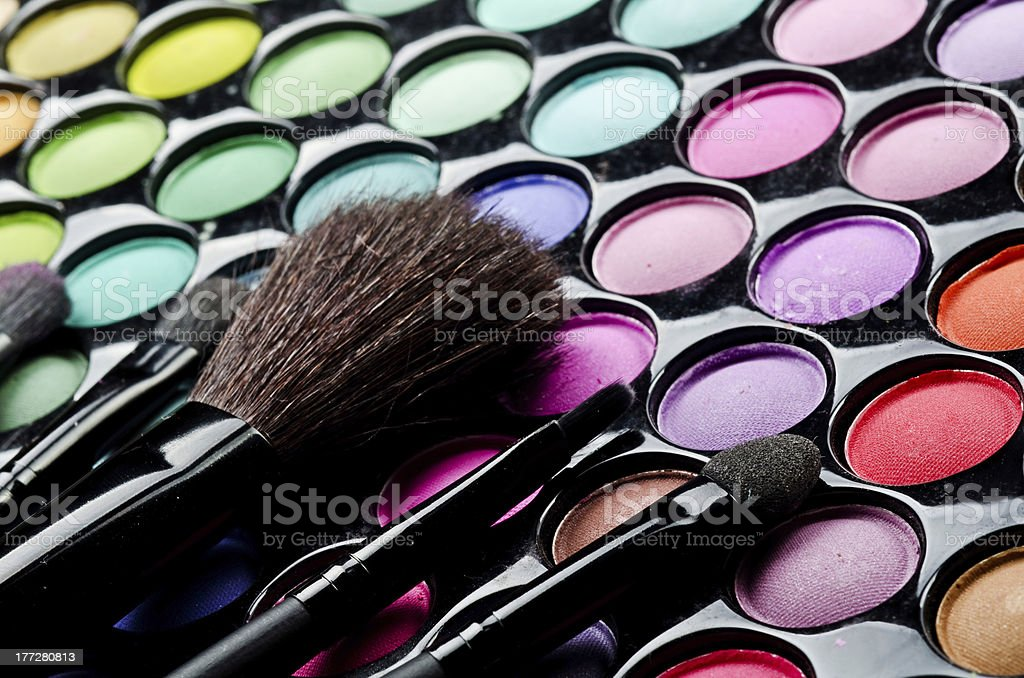 Multi colored make-up royalty-free stock photo