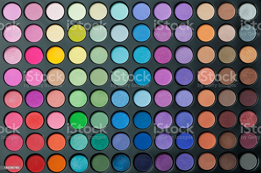 Multi colored make-up stock photo