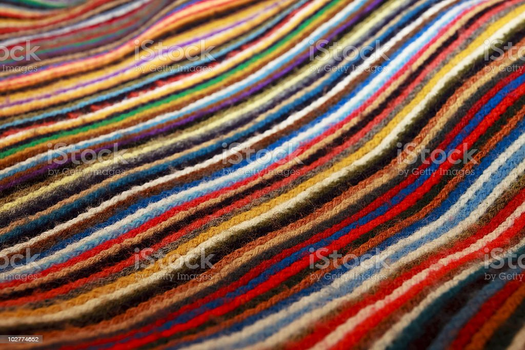 Multi Colored Material Closeup XL royalty-free stock photo