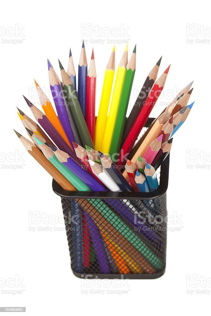 Multi colored pencil. royalty-free stock photo