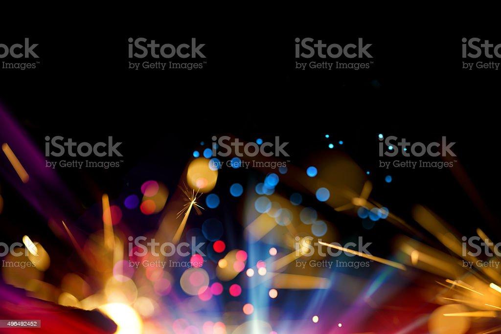 Multi Colored Sparkler Background stock photo