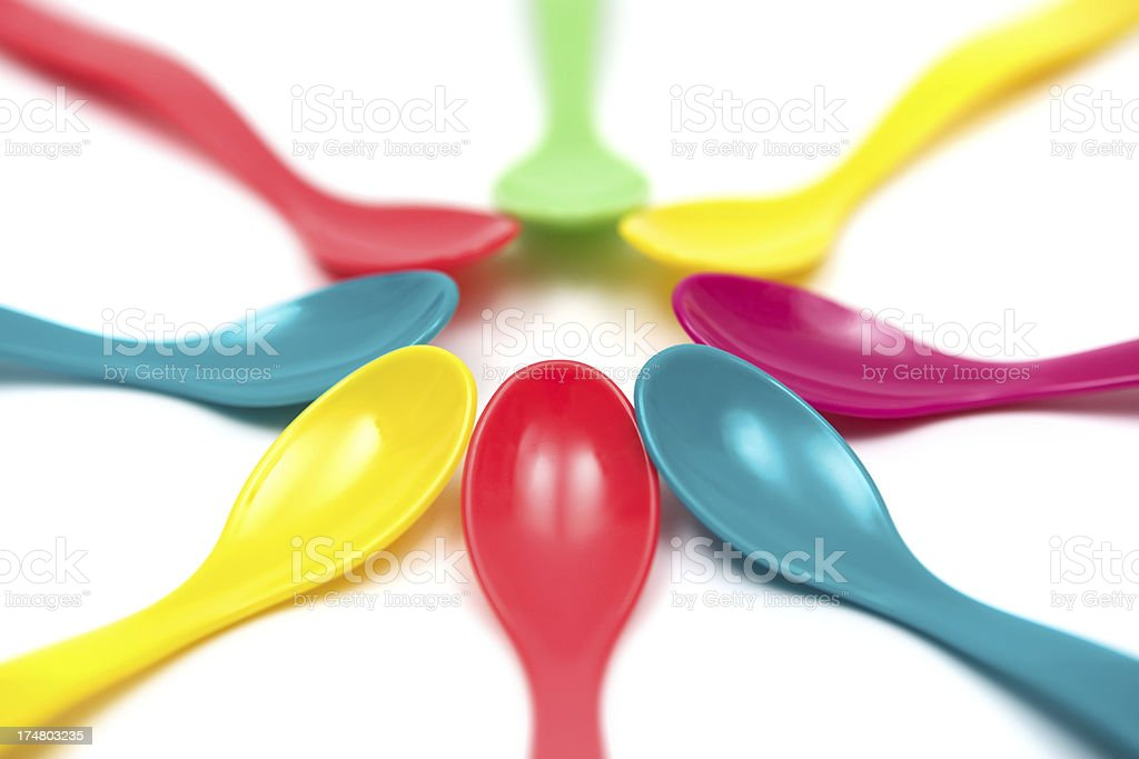 Multi Colored Spoons royalty-free stock photo