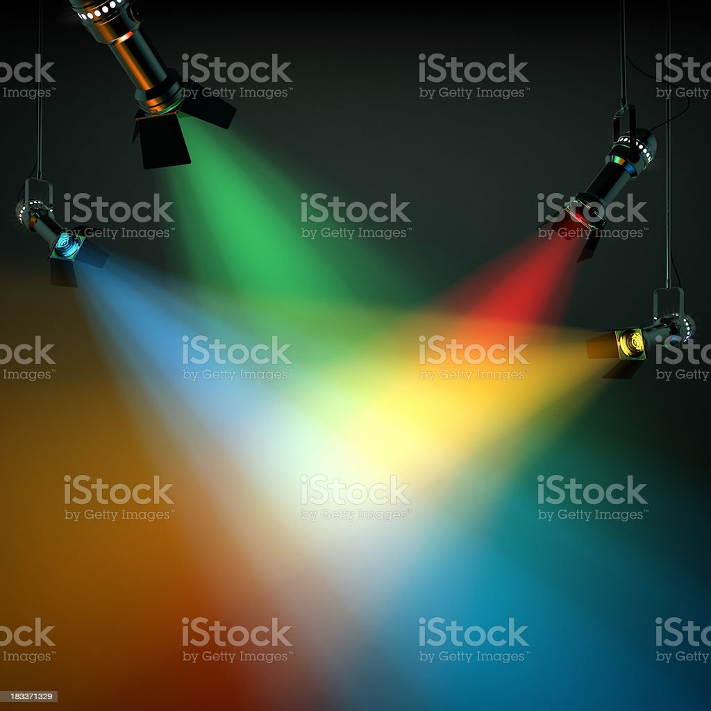 Multi Colored Stage Lights stock photo