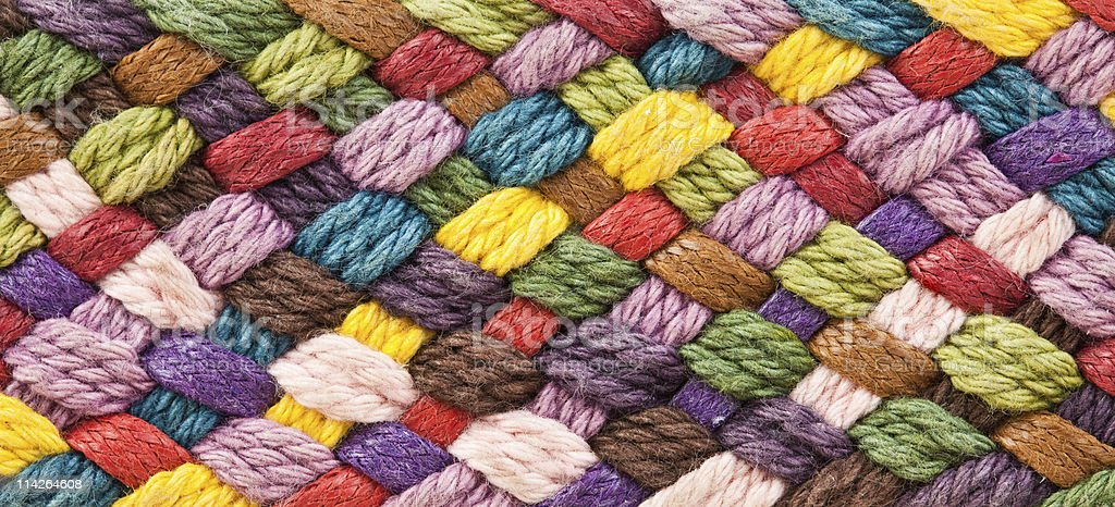 multi colored woollen yarns royalty-free stock photo