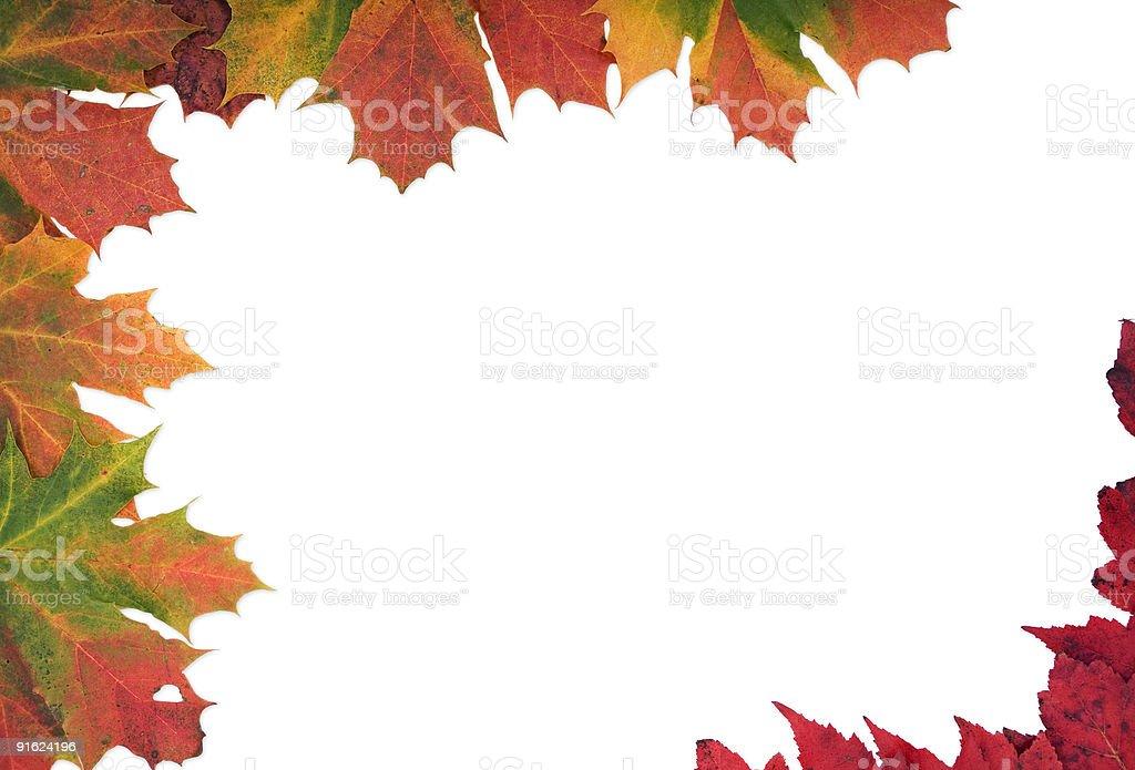 Multi цветные осенью лист рамка Стоковые фото Стоковая фотография