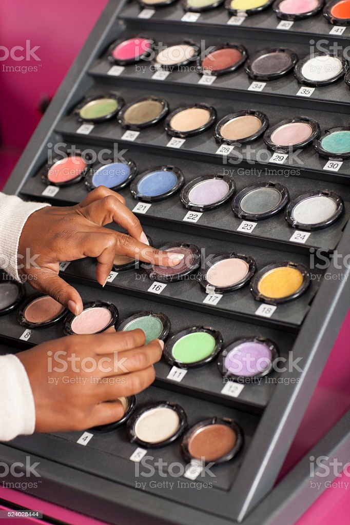 Multi coloured eyeshadow. stock photo