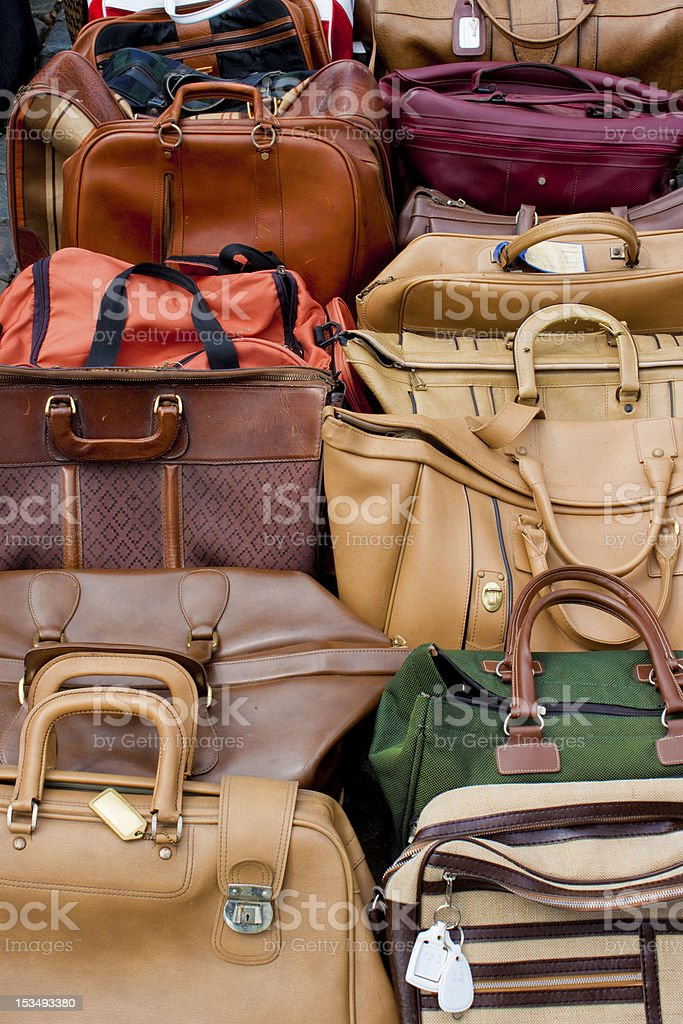 multi coloured old bags royalty-free stock photo