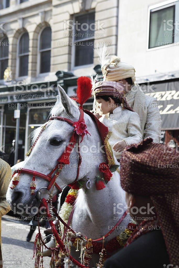 Multi Cultural London, Indian Asian Wedding stock photo
