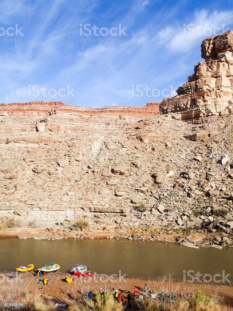 multi day river trip stock photo