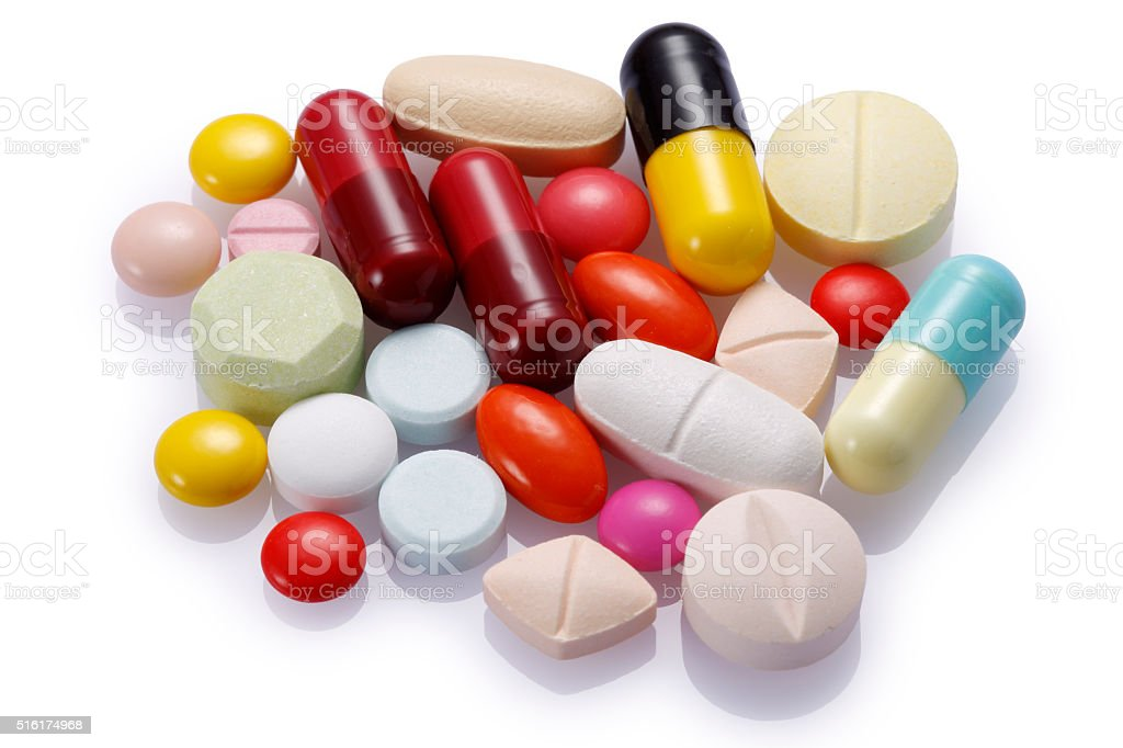 Multi Drugs with Clipping Path stock photo