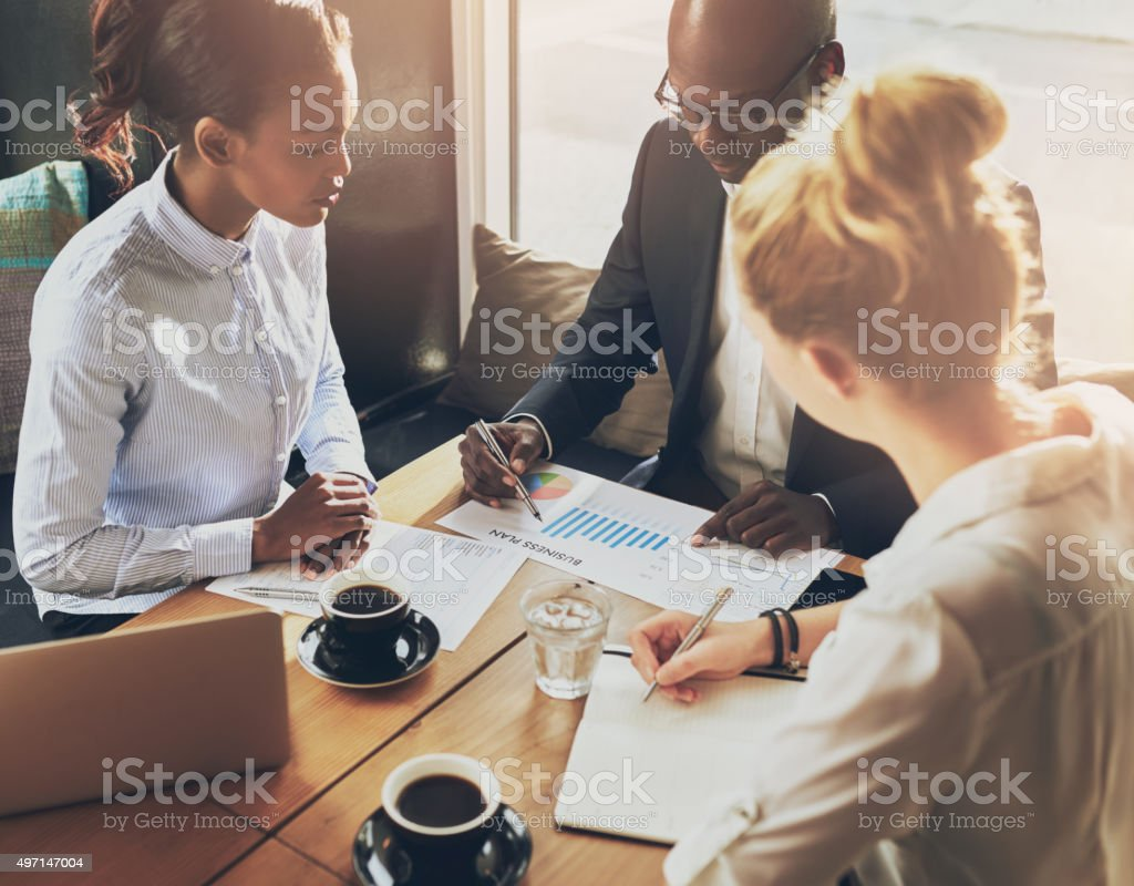Multi ethnic business people stock photo