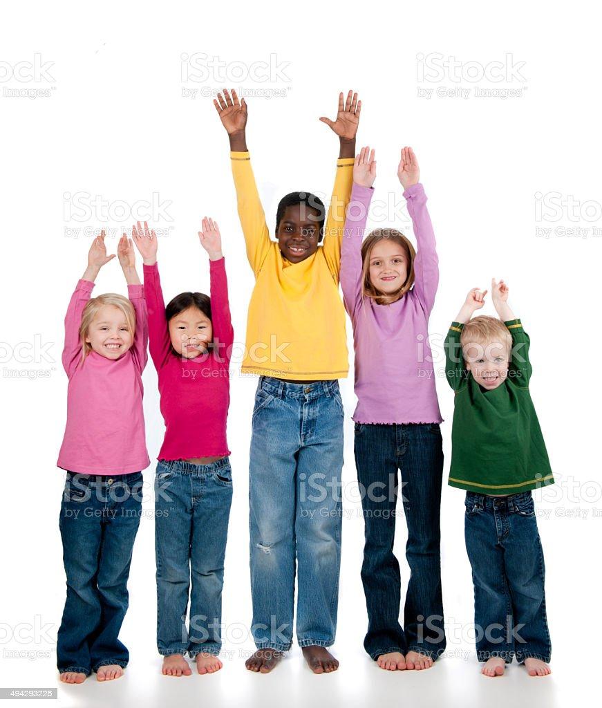 Multi ethnic children stock photo