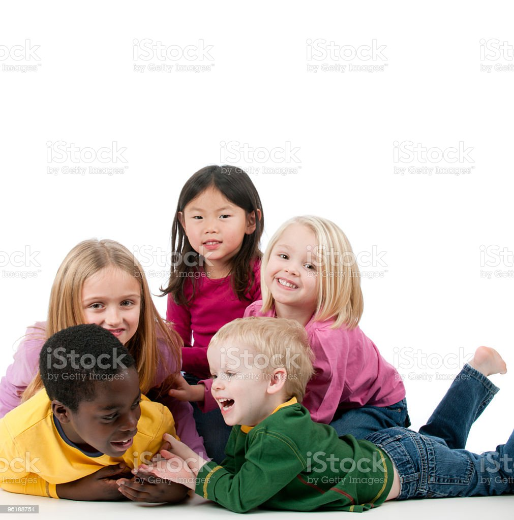 Multi ethnic children royalty-free stock photo