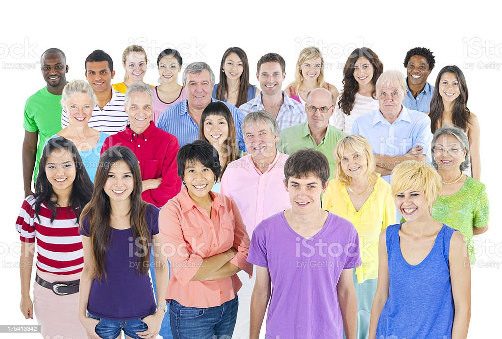 Multi ethnic group of people royalty-free stock photo