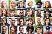 Multi ethnic people portraits