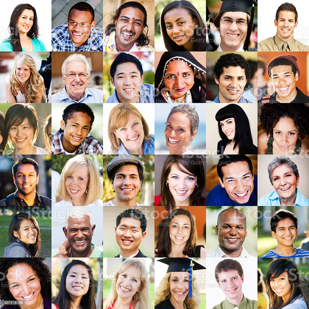 Multi Ethnic Portraits stock photo
