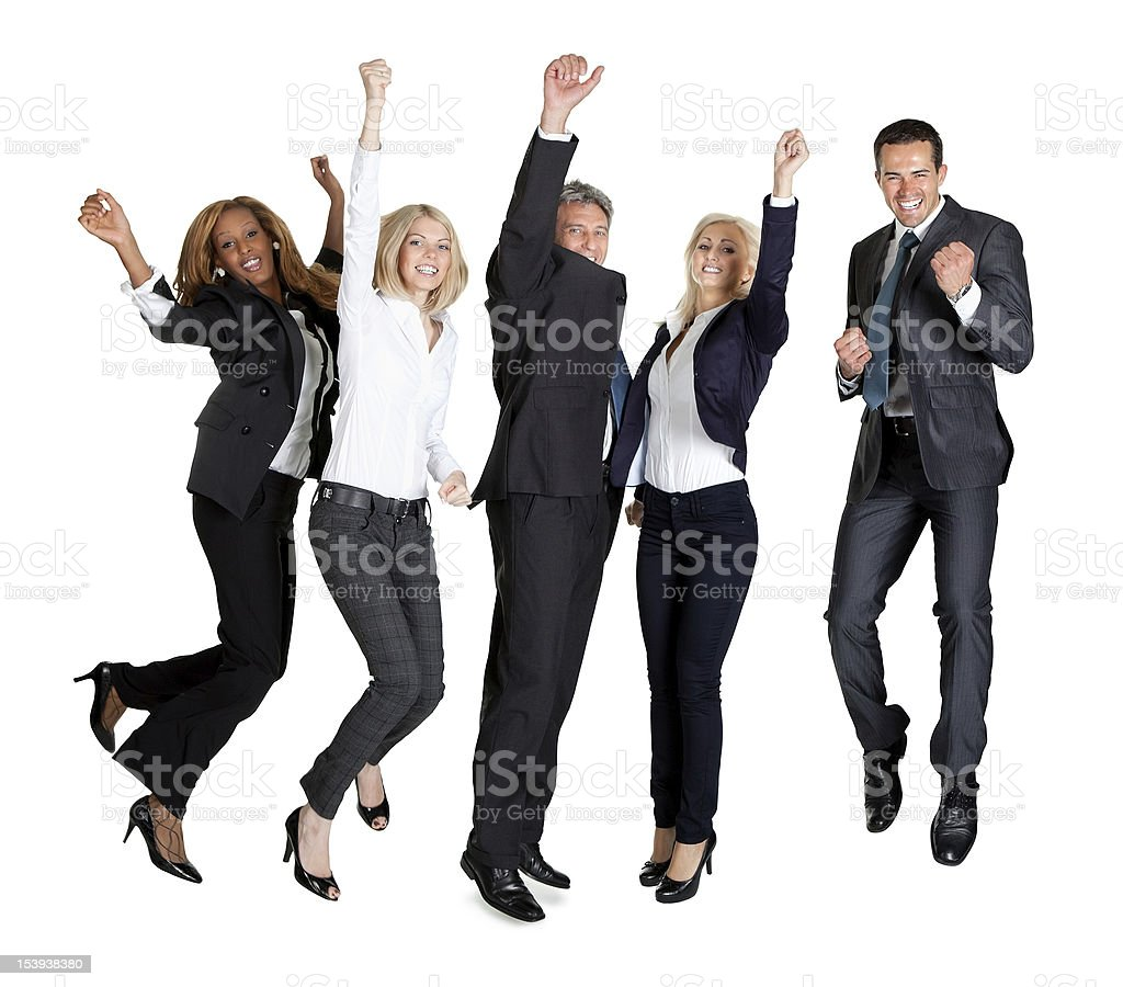 Multi ethnic team of business people royalty-free stock photo