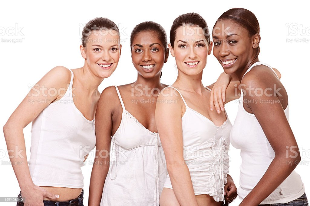 multi ethnic young girls royalty-free stock photo