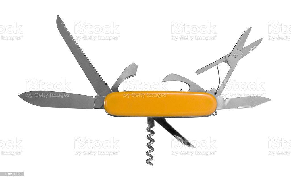 multi functional pocket knife stock photo
