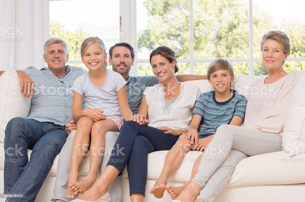 Multi generation family stock photo